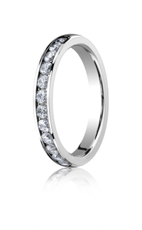Channel Set Mens Wedding Rings