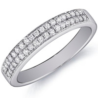 Lucy Double-Row Diamond Band by Eternity