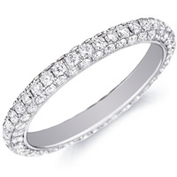 Delphine Diamond Band In Pave Setting by Eternity