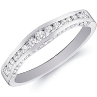 Lindsay Channel-Set Diamond Band With Curved Accents by Eternity