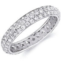 Christina Pave Diamond Band by Eternity