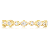 Tatiana Bezel-Set Diamond Band In Decorative Settings by Eternity
