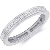 Elsa Channel-Set Princess-Cut Diamond Band by Eternity