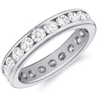 Mina Channel-Set Diamond Band by Eternity