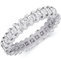 Greta Channel-set Princess-cut Diamond Band by Eternity