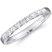 Mirabelle Half-Way Diamond Band