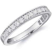 Bianca Milgrain Three-Quarter Wedding Band