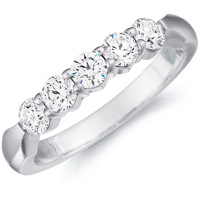Donatella Five Stone Wedding Band by Eternity