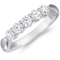 Donatella Five Stone Wedding Band by Eternity