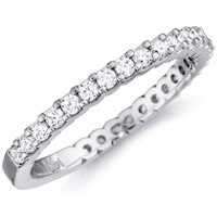 Laura Three-Quarter Prong Set Wedding Band