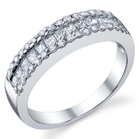 Princess Cut & Round Fashion Band t.w. approx 3/4ct