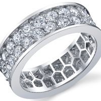 Double Row Eternity Band t.w. approx 3 Ct.