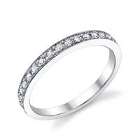 Diamond Wedding Band t.w. approx .20ct
