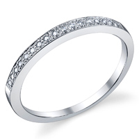Diamond Wedding Band t.w. approx 1/10ct
