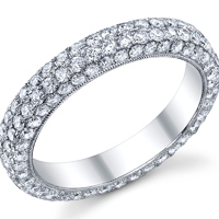 Pave Style Eternity Band  t.w. approx 2 Ct.