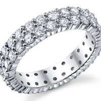 Double Row Eternity Band t.w. approx 2 Ct.