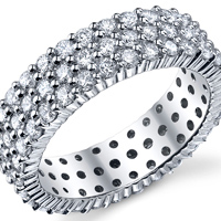 Triple Row Eternity Band t.w. approx 2 1/3 Ct.