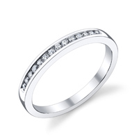 Classic Channel Set Wedding Band t.w. approx .16ct