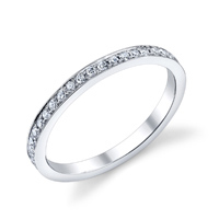 Bright Edge Style Wedding Band t.w. approx .36ct