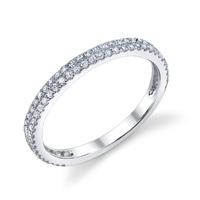 Double Row Diamond Band t.w. approx .32ct