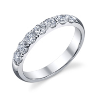 7 Stone Diamond Wedding Band t.w. approx 1ct  Available t.w. 1/4ct to 1ct