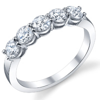Classic 5 Stone Band t.w. approx 0.50 Ct.