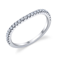 Curved Wedding Band t.w. approx .18ct