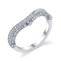 Curved Diamond Encrusted Wedding Band