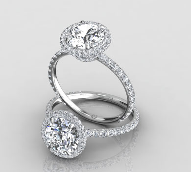 Nicole Double Halo Ring
