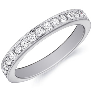 18k White Gold Juliet Bezel-Set Diamond Band By Eternity