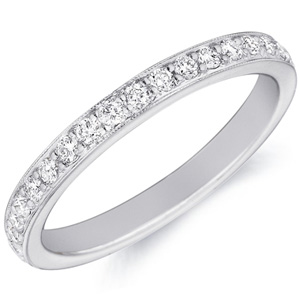 18k White Gold Emily Diamond Studded Band by Eternity