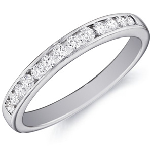 18k White Gold Isabelle Channel-Set Diamond Band by Eternity