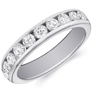 18k White Gold Louisa channel-set diamond band by Eternity