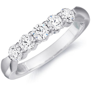 five stone wedding band by eternity wedding bands eternity by yoni