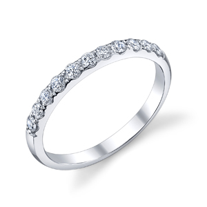 18k White Gold Diamond Wedding Band t.w. approx .50ct  Available t.w. 1/4ct to 1ct