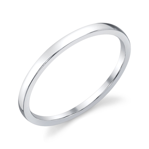 18k White Gold Classic Wedding Band