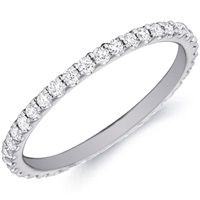 Alice Prong-Set Diamond Band By Eternity