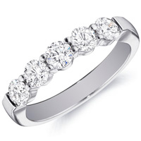 Rachel Gold Band Set With Five Diamonds by Eternity