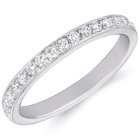 Emily Diamond Studded Band by Eternity