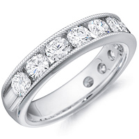 Morgan channel-set round cut diamond band by Eternity