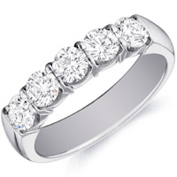 Danielle Five Stone Wedding  Band by Eternity