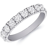 Hope Nine Diamond Ring With Four Prong Settings by Eternity