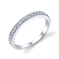 Prong Set Wedding Band t.w. approx .22ct