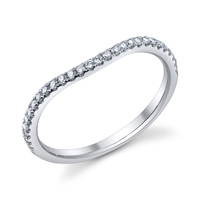 Curved Wedding Band t.w. approx .19ct
