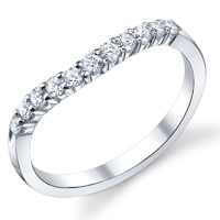 Curved Diamond Band t.w. approx 1/5ct
