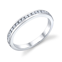 Channel Set Wedding Band t.w. approx .24ct