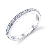 Bright Edge Wedding Band t.w. approx .20ct