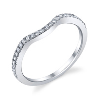 Curve Diamond Wedding Band t.w. approx .18 Ct