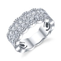 Elegant Pave Diamond Band