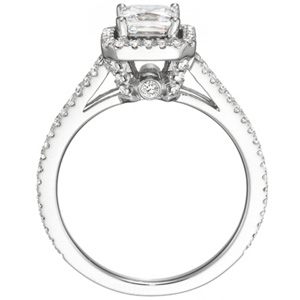 Diamond eternity engagement rings budget diamond for Mercedes benz 18k gold ring